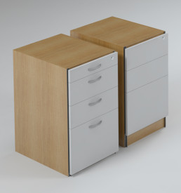 DH Pedestal, 2 Drawer & Filer