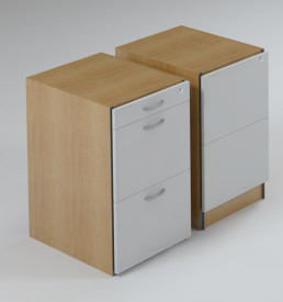 DH Pedestal, 2 Filer Drawers