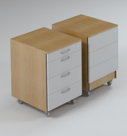 Mobile Pedestal, 3 Drawer