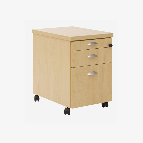 Mobile Pedestal, 1 Drawer & Filer - OfficeScene