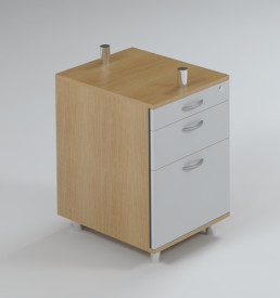 Node Pedestal, 1 Drawer & Filer