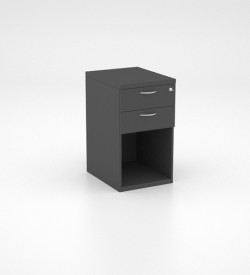 Storage - Desk Height Pedestal with 2 Single Drawers and Open Space