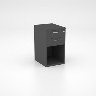 Storage – Desk Height Pedestal with 2 Single Drawers and Open Space