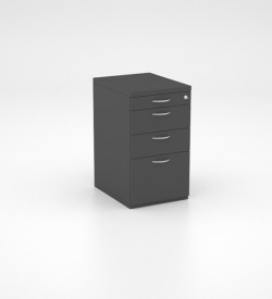 Storage - Desk Height Pedestal with PP, 2 Single Drawers and Deep Filers