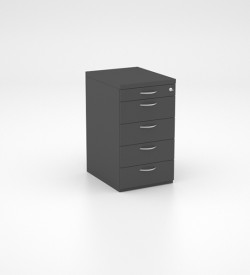 Storage - Desk Height Pedestal with PP and 4 Single Drawers
