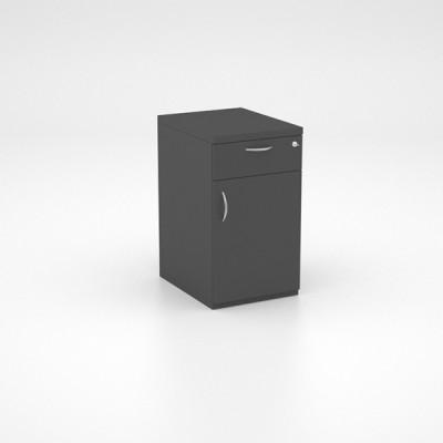 Storage – Desk Height Pedestal with Single Drawer and Swing Door Cupboard