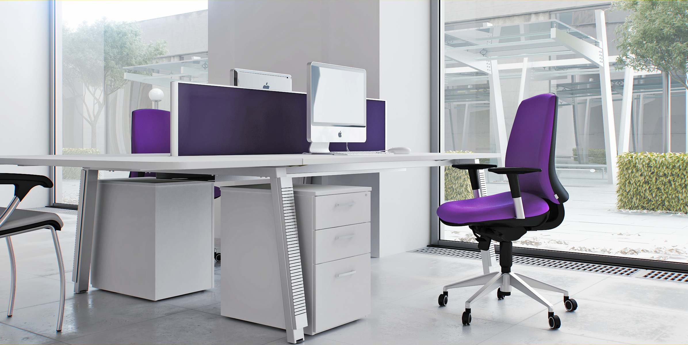 design-work-room-cool-with-modern-office-chair-purple-and-proprietary-work-table-with-white-and-pane-of-glass-with-large-size-and-barrier-table-with-color-purple