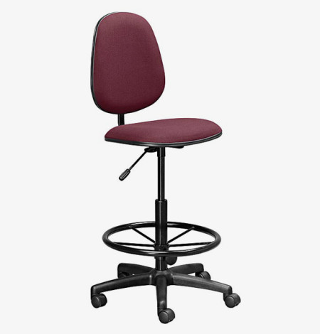 D-Man Econo Mid Back Draughtsman Chair- burgundy