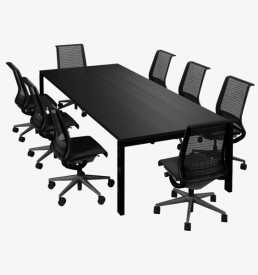 margin black boardroom table