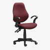 Operator S3000 Mid Back Office Chair - burgundy