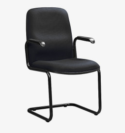 Paula Visitors Chair - black