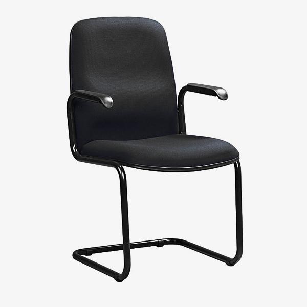 Paula Visitors Chair - black