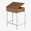 Box School Desk open