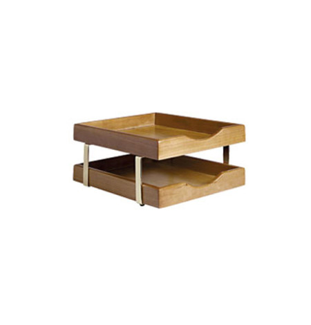 Executive Wooden 2-Tier Letter Tray (cherry)