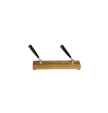 Executive Wooden Double Pen Stand (cherry)