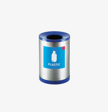 Round Recycle Bin for Plastic