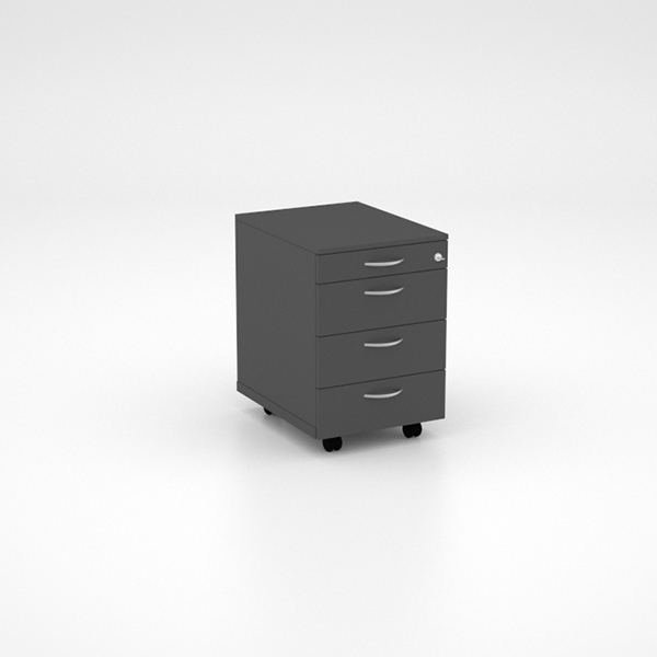 Storage - Mobile Pedestal with PP and 3 Single Drawers