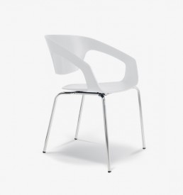 Office Furniture Cape Town - Chrisp Armchair - White