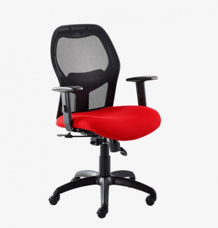 Xenon  mesh back operators chair – red