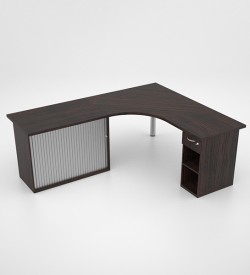 Jigsaw Core Desk with Day Filer and RD Credenza