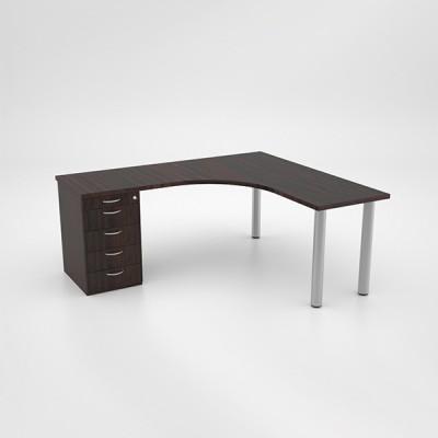 Jigsaw Core Desk with Desk Height Pedestal