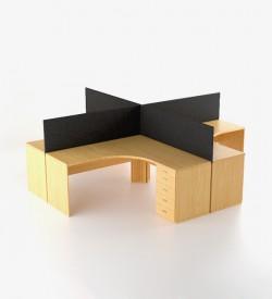 EcoScene 4 way cluster desk
