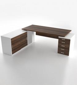 status executive desk with credenza