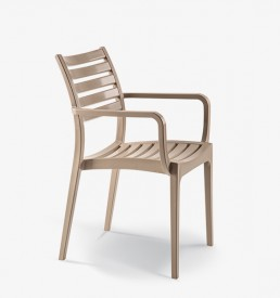 Enjoy armchair slatted seat & back