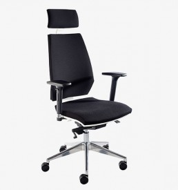 Pulse - black HB with Headrest and adjustable arms
