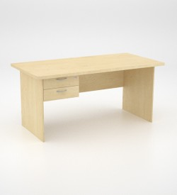 EcoScene Desk 32top with 2 draw Pedestal - Maple