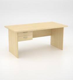 EcoScene Desk 32top with 2 draw Pedestal - Maple