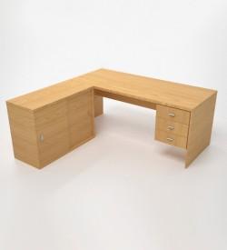EcoScene Desk w Credenza - Oak