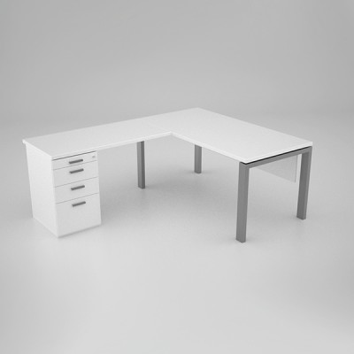 Margin-Desk-with-extension-top-and-pedestal