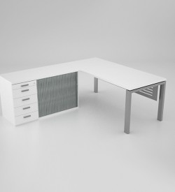 Margin-Desk-with-pedenza-and-perforated-modesty-panel