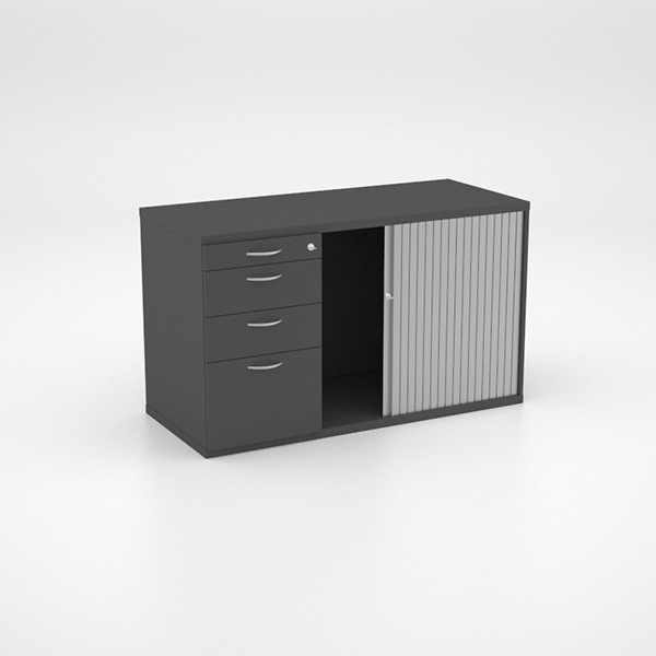 Storage - Pedenza with PP, 2 Single Drawers and Deep Filer