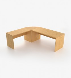 Ecoscene Desk Round L-Extension Top