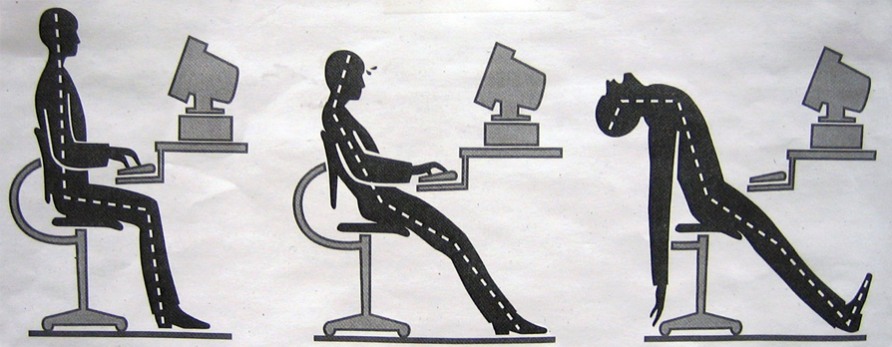 Ergonomic workstation guidelines and workout