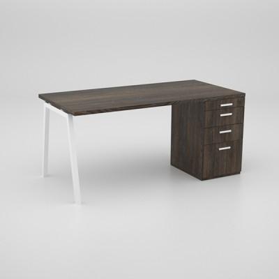 Image Desk with desk height pedestal