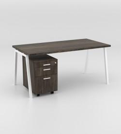 Image Desk with mobile pedestal