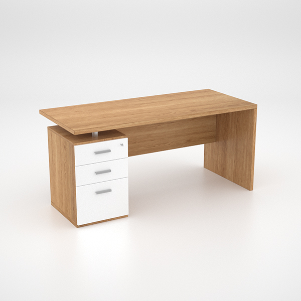 Lola Desk w Single Pedestal