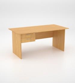 Value Desk 16top with 2 draw Pedestal - Oak