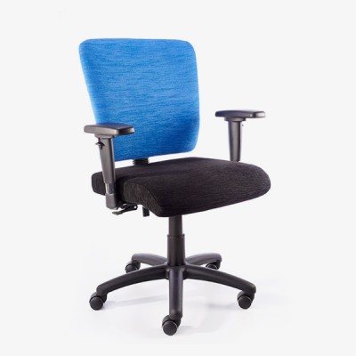 4×4 Heavy Typist Black Nylon Office Chair