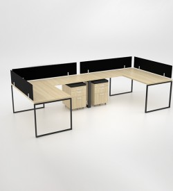 Ava 2-way Cluster with extension and mobile pedestal