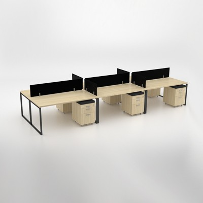 Ava 6-way Cluster with mobile pedestals