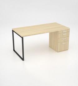 Ava Desk with desk height pedestal