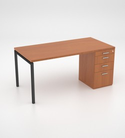 Margin 38 - Desk with Desk Height Pedestal