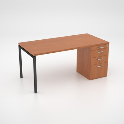 Margin 38 – Desk with Desk Height Pedestal