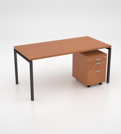 Margin 38 - Desk with Mobile Pedestal