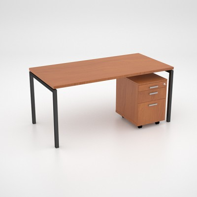 Margin 38 – Desk with Mobile Pedestal
