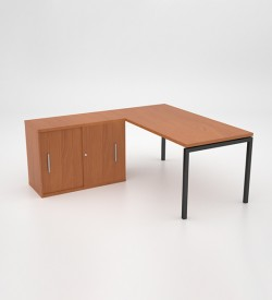 Margin 38 - Desk with Sliding Door Credenza